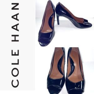 Cole Haan Black Patent Leather Size 11 Heels